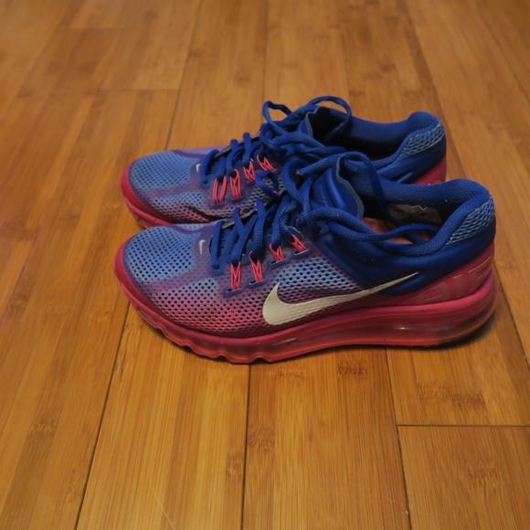 Nike WMNS Air Max+ 2013 Premium Blue Pink US 7.5